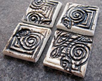 Ceramic mosaic tiles, square mosaic tile, porcelain mosaic tiles, ceramic jewelry components, porcelain jewelry components, mosaic supplies
