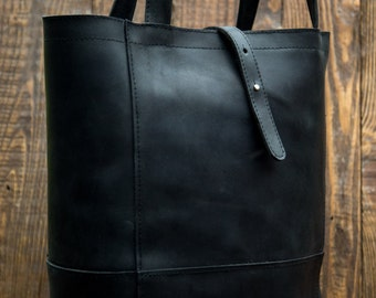 leather Tote bag, womans tote bag, Leather tote bag , leather tote, shoulder bag, black  bag, Leather Woman bag, large leather tote