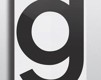 Grey premium-paper Type Poster - G