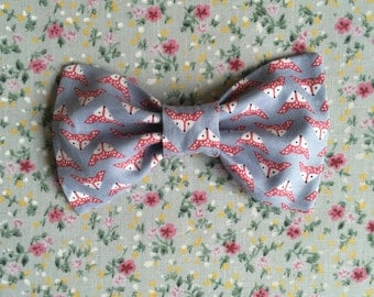 Fox Print Bow Tie