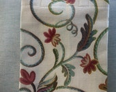 Handmade Tapestry Shopping Bag Cream Flower Design