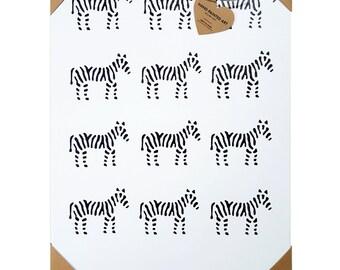 Wall Art - Girls Wall Art - Nursery Wall Art - Zebra Wall Art - Canvas Painting - Wall Art - Home Decor - Zebras