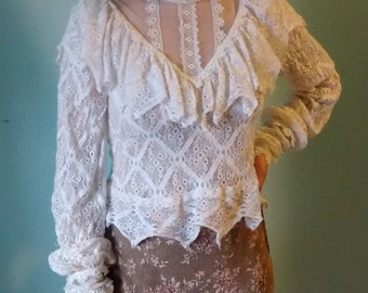 Young Edwardian lace top S,M