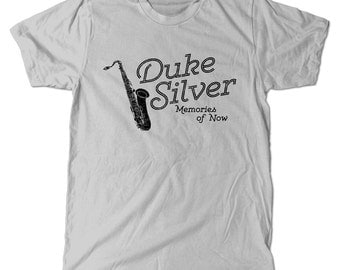 Duke Silver T-Shirt, Parks And Rec Ron Swanson Duke Silver Trio Tee