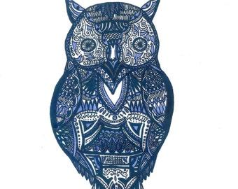 Blue Owl - Print