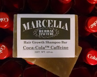 Coca-Cola Caffeine Handcrafted Solid Shampoo Bar All Natural Organic Vegan Prevents Hair Loss Greatly Enhances Growth Adds Hair Volume