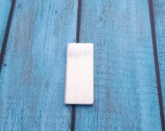 "1.25""x.5"" Rectangle Blanks,  Aluminum Stamping Blanks, Metal Stamping Blank, Hand Stamping Blanks, Stamping Supplies, Rectangle Metal Blanks"