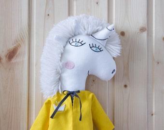 stuffed unicorn Prosha Rag doll