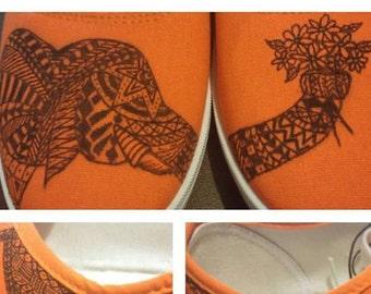 Tribal Elephant Shoes