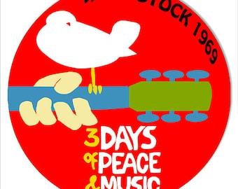 Woodstock 1969 Round Metal Sign