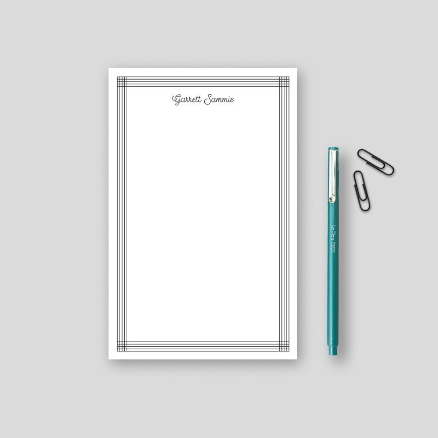 Personalized Note Pads Desk Accessories for Men by