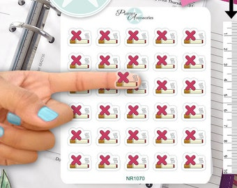 Clear No Smoking Stickers,Fitness Stickers,Planner Stickers Erin Condren Functional Stickers Decorative Stickers NR1070