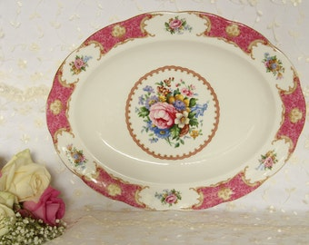 Royal Albert Lady Carlyle Large Oval Serving Platter Dish