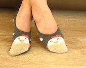 Women socks invisible socks CHICKEN socks Gray socks Chick socks Heart socks Fashion socks Soft socks Cute socks Fun socks Comfortable socks