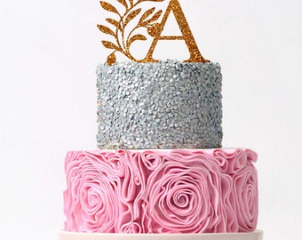 Wedding Cake Topper Personalized Initial Wedding Cake Topper Monogram Cake Topper Custom Monogram Topper Personalized Letter Monogram