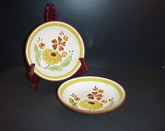 Stangl First Love Soup Bowl Set 2 Hand Painted