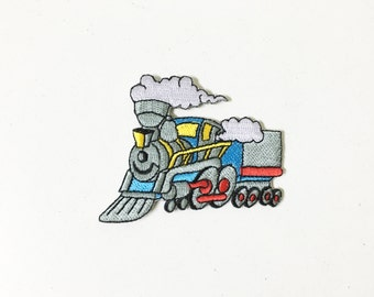 Funny Steam Locomotive Iron on Patch