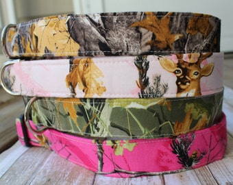 Camo Dog Collar - Camouflage Dog Collar - Pink Camo Dog Collar - Camo Dog Leash - Hunting Dog Collar - Hunting Dog Harness