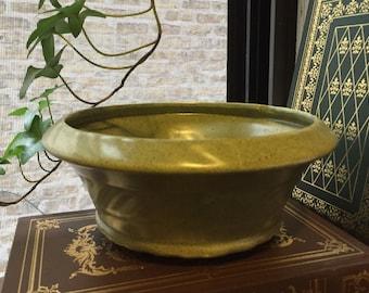 Vintage Sage pottery bowl