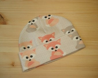 Fox Newborn hospital hat \ Organic baby hats \ boys hats \ Gender neutral \ beanie  \ newborn hat \ coming home outfit \ going home hats