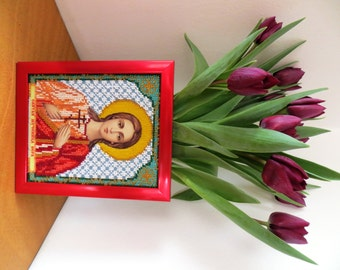 Beads Embroidered Icon Vera (Faith)