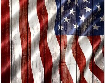 American Flag Weathered Wood LAMINATED Cornhole Wrap Bag Toss Decal Baggo Skin Sticker Wraps