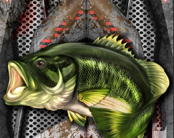 American Flag Bass Fish Armor LAMINATED Cornhole Wrap Bag Toss Decal Baggo Skin Sticker Wraps