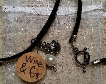 Wine & C's Seashell  Charm Necklace