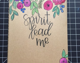 Personalized Moleskine Journal / Notebook / Hand Lettered Hand Painted / Custom / Calligraphy Moleskine / One Little Word / OLW