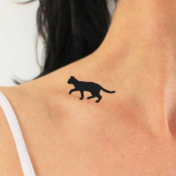 4 cats walking on my shoulder cat temporary tattoo animal. Black Bedroom Furniture Sets. Home Design Ideas