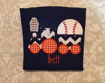 Baseball Train Shirt