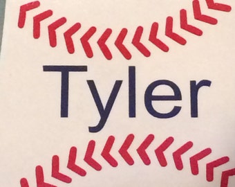 Baseball Name Decal