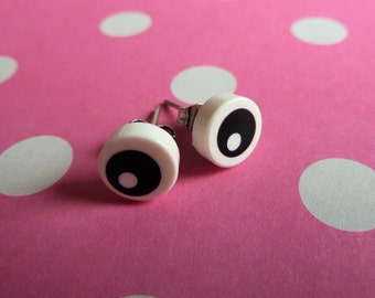 Eyeball Lego® earrings - hypoallergenic - quirky kitsch fun gift