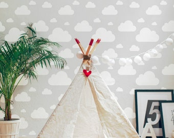 Cloud Wallpaper / Traditional or Removable Wallpaper L017