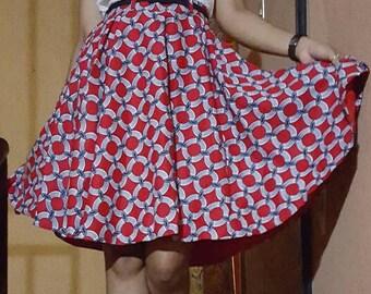 Ankara Mother and daughter flare skirt, Me & Mini Me flare skirt.
