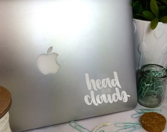 Head in the Clouds -- Vinyl Laptop Decal