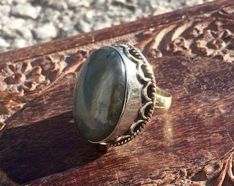 Labradorite Ring, Boho Chic, Gypsy Ring