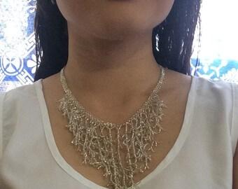 Handmade necklace, fine beadwork