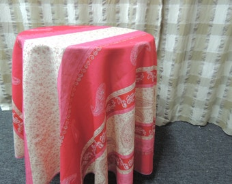 FRENCH PROVENCAL  Round Tablecloth, Stain Resistant, Indoor-Outdoor Tablecloth