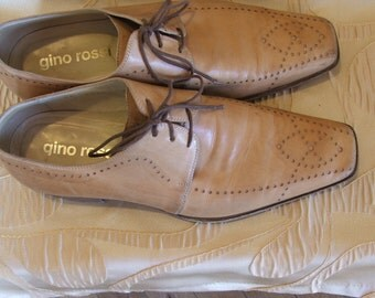 GINO ROSSI, Vintage Men's Costume Shoes, Genuine Leather