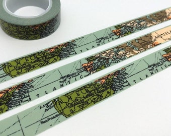 Map tape 10M world Map washi tape map deco tape map decor map sticker tape traveller scrapbook diary travel planner accessories gift
