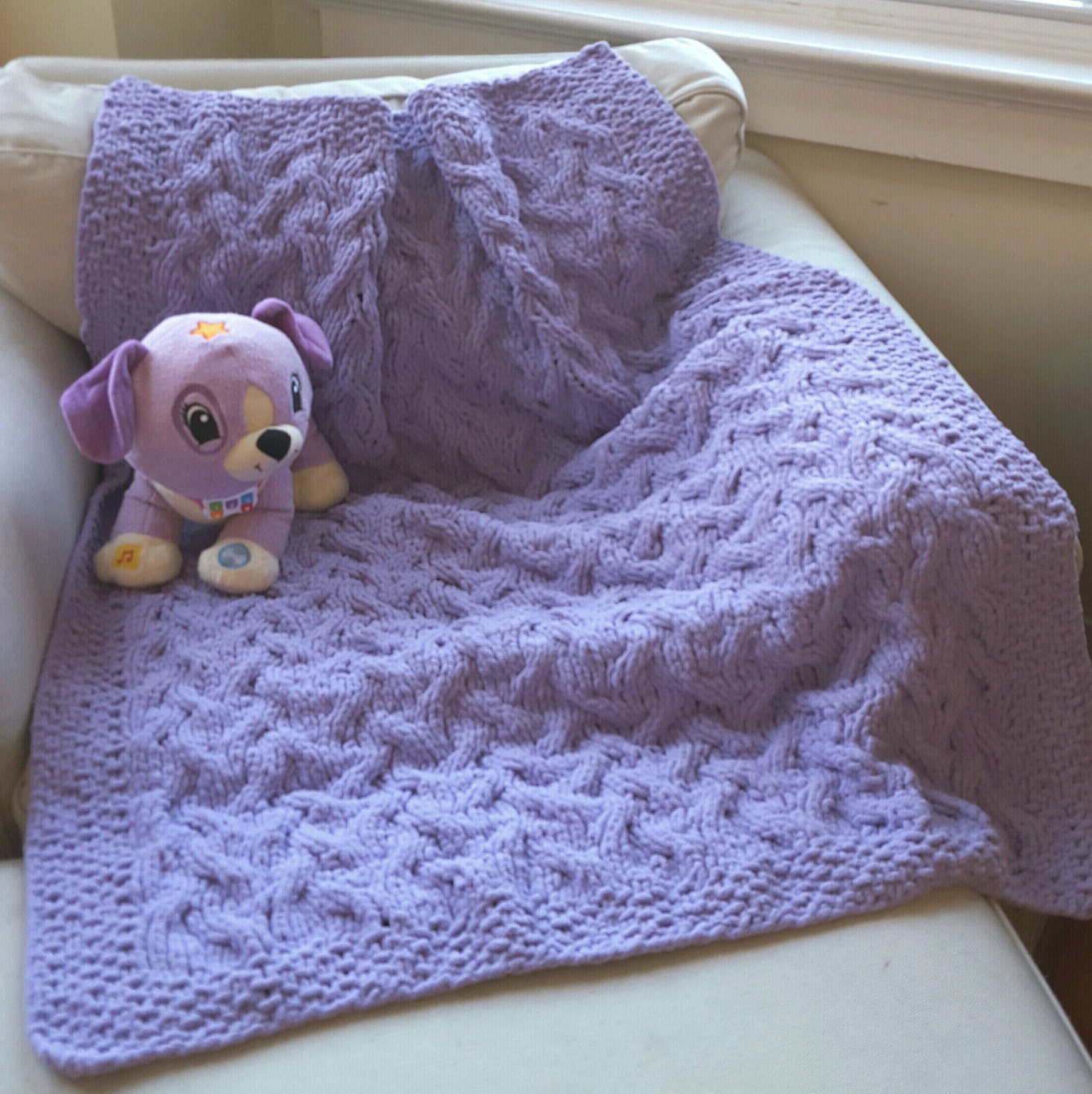 Unusual Knitting Patterns For Toddlers : Unique Hand Knit Baby Blanket Very Soft Baby Girl Blanket