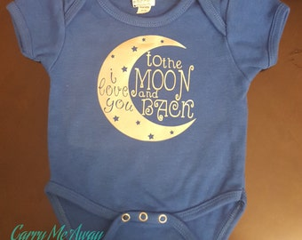 I love you to the moon and back Onsie Tshirt