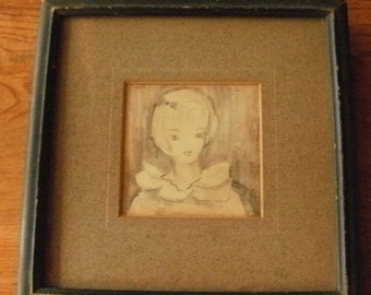 Free Shipping - Newspaper Pencil Drawing - Fashion Model - Barbie Look - Detroit Times