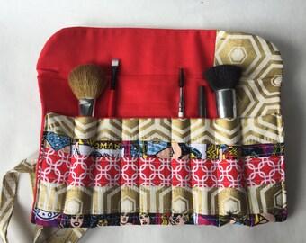 Wonder Woman Makeup Brush Roll - Brush Holder