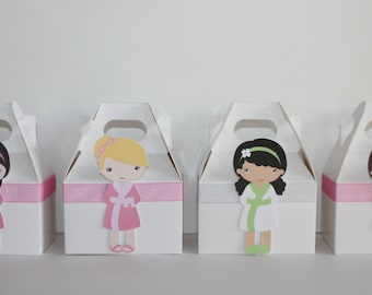 Spa girls Party favor boxes