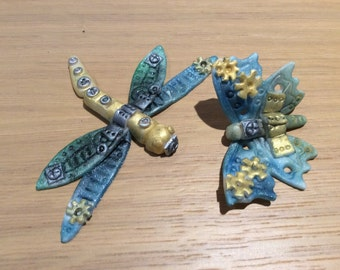 Edible Steampunk Dragonfly and Butterfly Cupcake Toppers