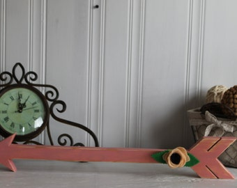 Arrow. Wood Arrow. Home Decor. Pink. Hand Painted.