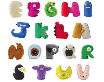 Stuffed Creature Alphabet Poster