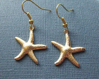 Starfish Earrings - Ocean Earrings - Dangle Earrings - Beach Earrings - Starfish Jewelry -- E116